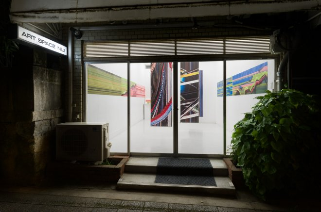 Installation view at Art Space Niji, 2017.